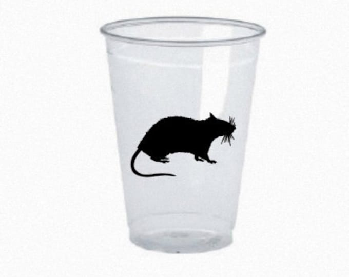 DIY Rat Halloween Stickers Set of 12 - 2.75 inch vinyl stickers for DIY glasses, mugs, and more. Glass is NOT Included.