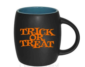 DIY Decal - Trick or Treat Halloween Decal, Vinyl Decals - Mugs/Wine Glass NOT included