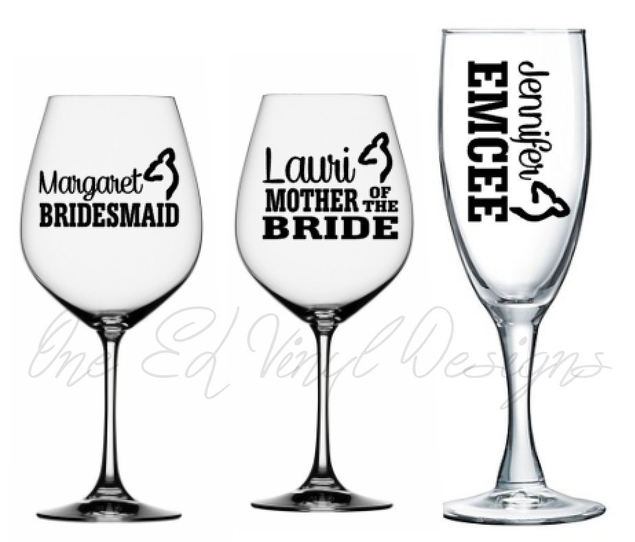 Wedding Party Titles With Names Buck Or Doe For Diy Glasses