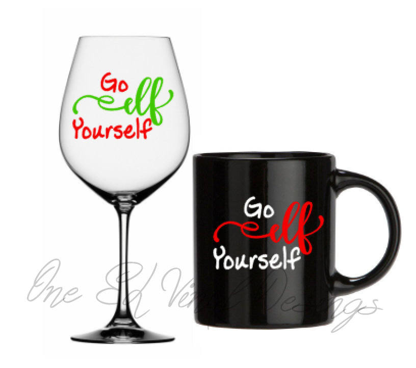 Go elf yourself christmas decal diy vinyl decals wine glass mugs go elf yourself christmas decal diy vinyl decals wine glass mugs mug shown not included solutioingenieria Choice Image