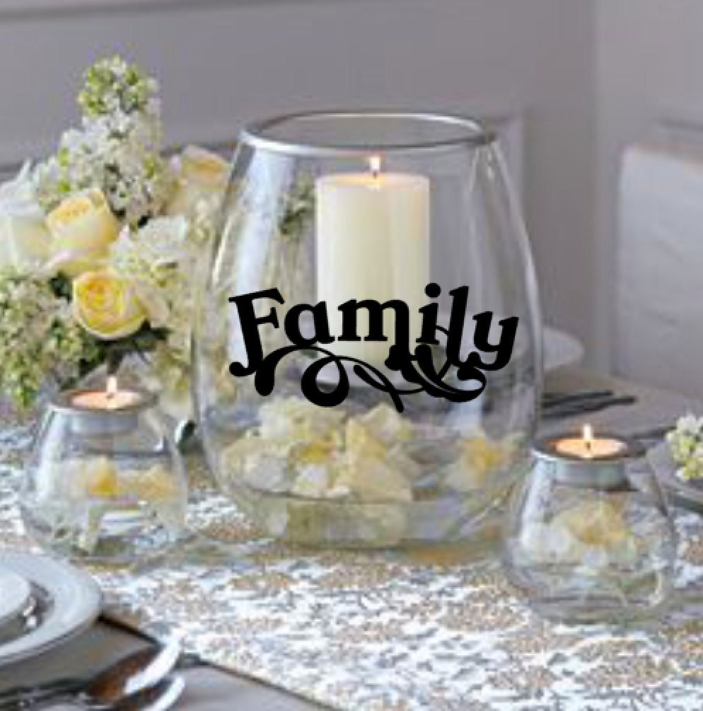 Family Vinyl Decal Diy Projects Candle Holder Not Included