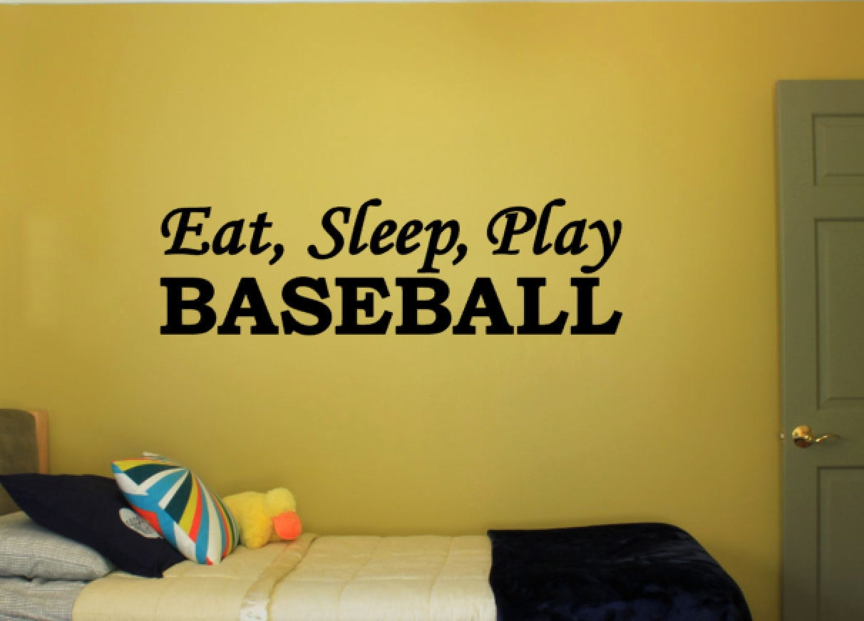 Eat, Sleep, Play Baseball - Vinyl Decal Vinyl Wall Art. Boys or ...
