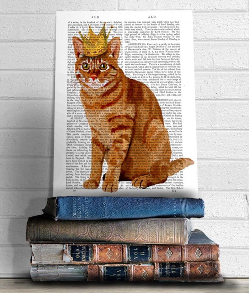 3bc5b14e900ba9 Ginger Cat re dei gatti Full attaccatura di parete decori | Etsy