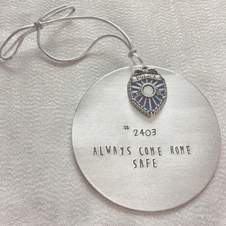 police daddy police wife ornament always come home safe Police officer Christmas ornament