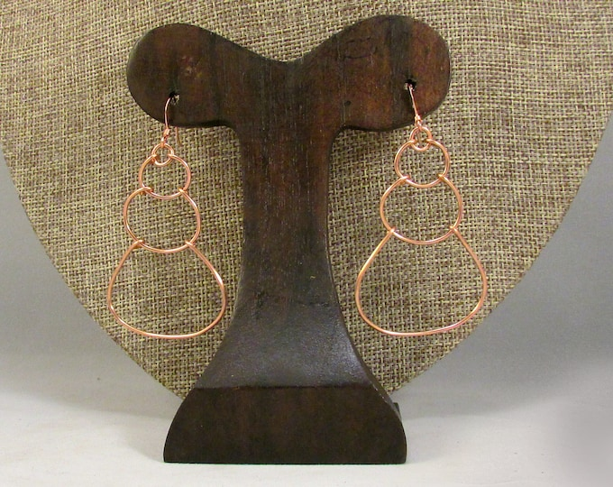 copper wire bubble earrings