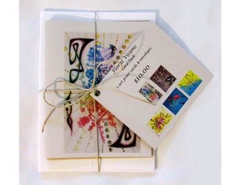 Floral Visions 5 card pack