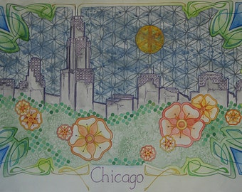 """High Quality Print of """"Postcards from the Future: Chicago"""""""