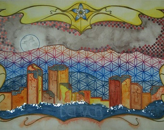 """High Quality Print of """"Postcards from the Future: Denver"""""""