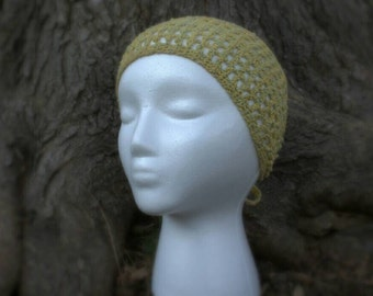 SALE! 10% off! Yellow and sage green tie-on headband