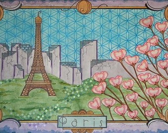 """High Quality Print of """"Postcards from the Future: Paris"""""""