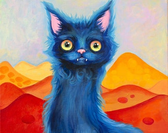 """Dream cat Giclee - Print 8""""X10"""" -Limited Edition of 25"""