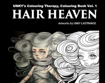 Hair Heaven Colouringbook-Temporary Digital Release Ver. ( Unky's colouring Therapy Vol. 1 )-PDF