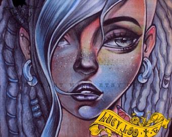 Digital Stamp- Lucy Loo 'Dreaded'- 300dpi JPEG/ PNG- MAC0323