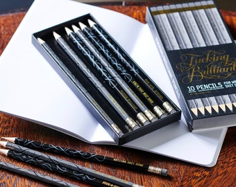 Fucking Brilliant Pencils , rude pencils , get the job done pencils, gift for a friend, get shit done,
