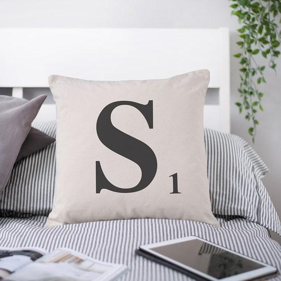 Cushion Cover Home Sofa D/écor Scrabble Alphabet Letter-A Pillow Case