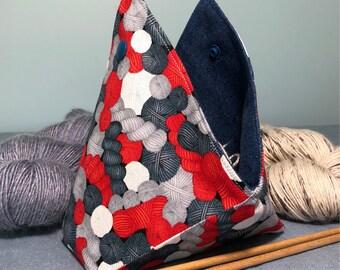Yarn Keeper - Bento Style - Yarn Bowl - Yarn Print