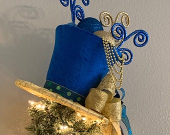 Blue Gold Christmas Etsy