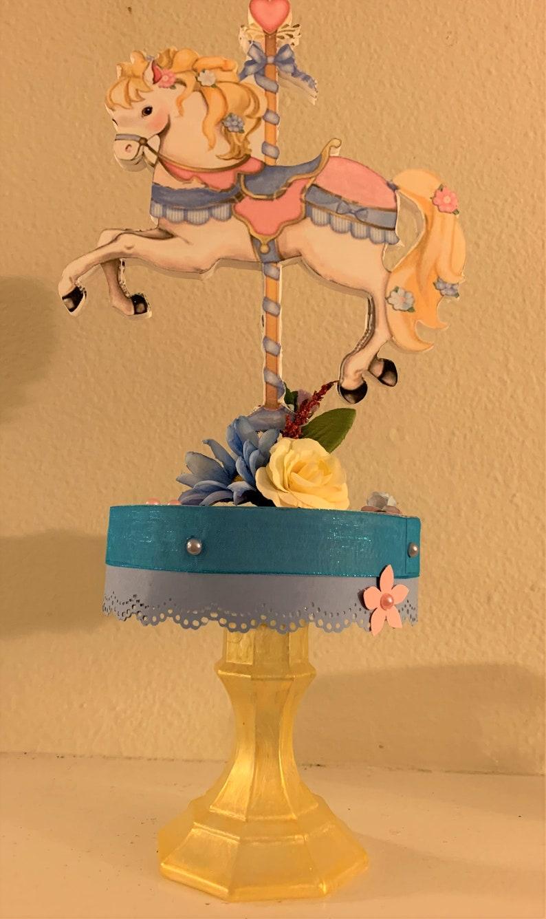 Party Decoration Carousel Party Decoration Carousel Horse Carousel Carousel Centerpiece Baby Shower Centerpiece