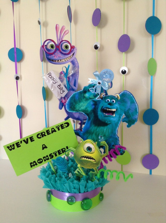 Monsters Inc Baby Shower Centerpiece Baby Shower Centerpiece Etsy