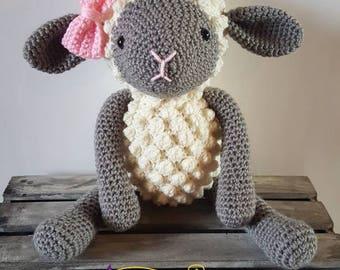 Crochet Stuffed Lamb