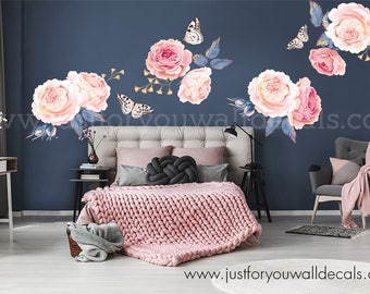 Flower wall decals etsy half order flower wall decal floral wall decal flower decals watercolor wall decals watercolor flower decal nursery wall decal 04 0003 mightylinksfo