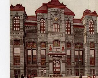Chicago Board of Trade, vintage postcard, LaSalle Street and Jacksin Boulevard