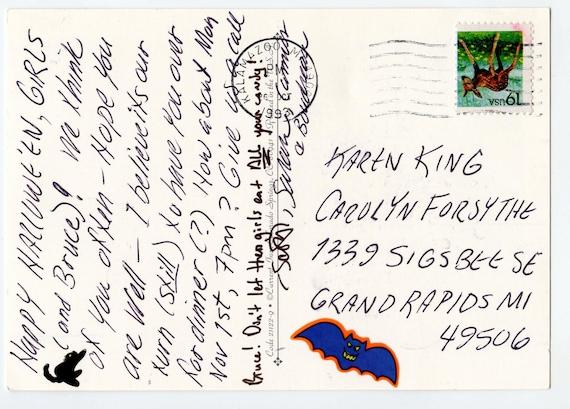 Halloween, reproduction vintage postcard, Clapsaddle