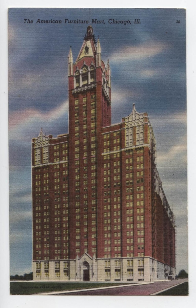 Chicago The American Furniture Mart Vintage Post Card Etsy