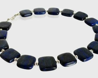 Lapis Lazuli Square Stone Necklace