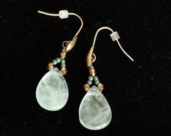 Art Deco Earrings in Teal