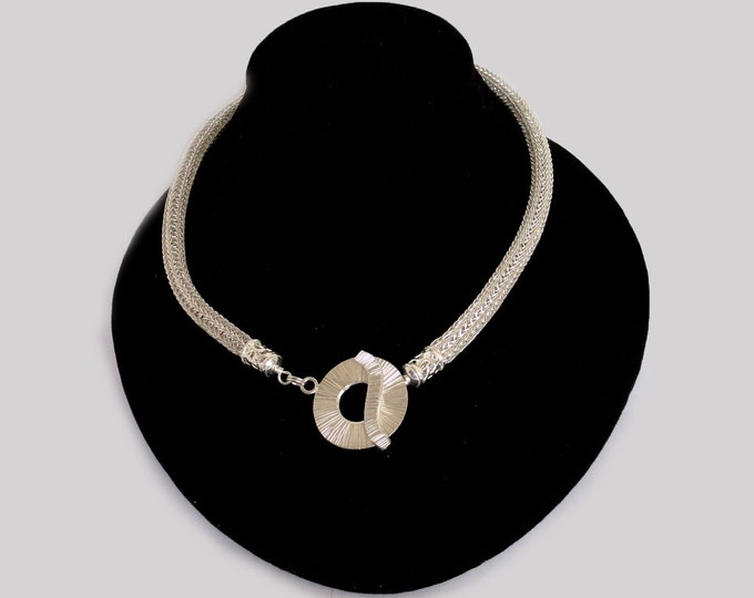 Featured listing image: Viking Knit Necklace in Silver