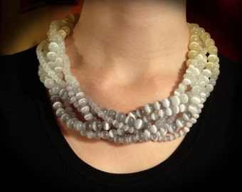 Graduate to Grey Multi-Strand Necklace