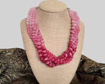 Pretty in Pink Mult-Strand Necklace