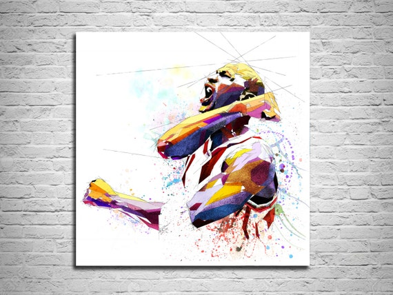 Michael Jordan CANVAS PRINT Basketball Art Print Sports Fan | Etsy