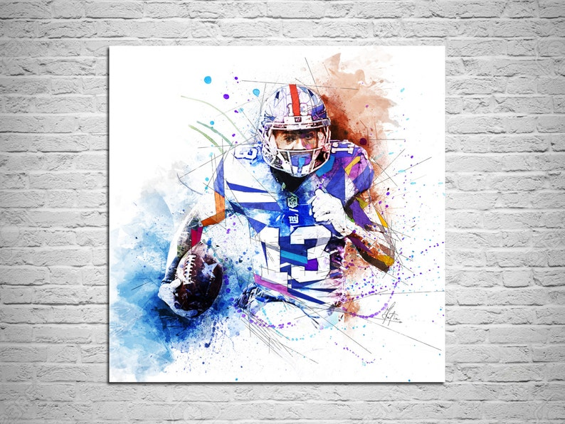175c0edab CANVAS PRINT Odell Beckham Jr Football Art Print Sports Decor