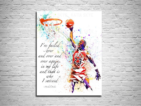 CANVAS PRINT Michael Jordan Dunk Basketball Art Print Sports | Etsy