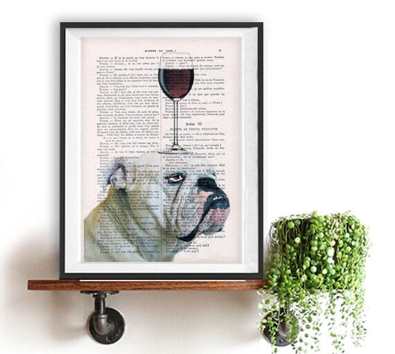 Clutch Geldbeutel Geldbörse Englische Bulldogge Frenchie braun