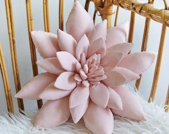 Succulent Pillow in Pastel Pink, Succulent, Cactus Pillow, Boho Nursery Decor, Southwest Nursery, Boho Home Decor - MADE TO ORDER