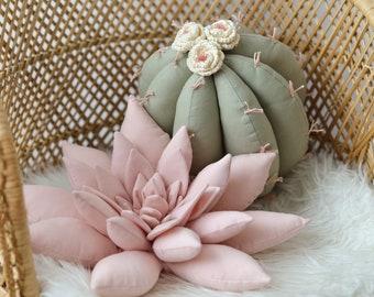 2 Cactus Pillow , Set of 2 Cactus Pillows, Cactus Nursery, Boho Room Decor, Boho Nursery Decor, Southwest Nursery - MADE TO ORDER