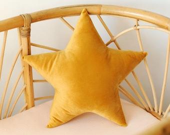 Star Pillow, Star, Star Decor Pillow, Velvet Pillow - MADE TO ORDER