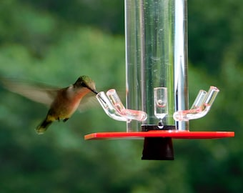 Hummingbird Feeder HB-1 by Peter's Feeders: The unique design let's you actually see the birds drinking.