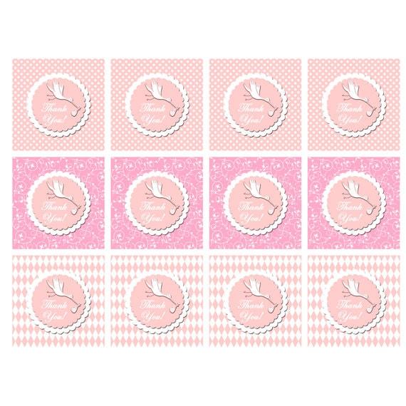 Baby Shower Gracias Etiquetas Pegatinas Para Imprimir