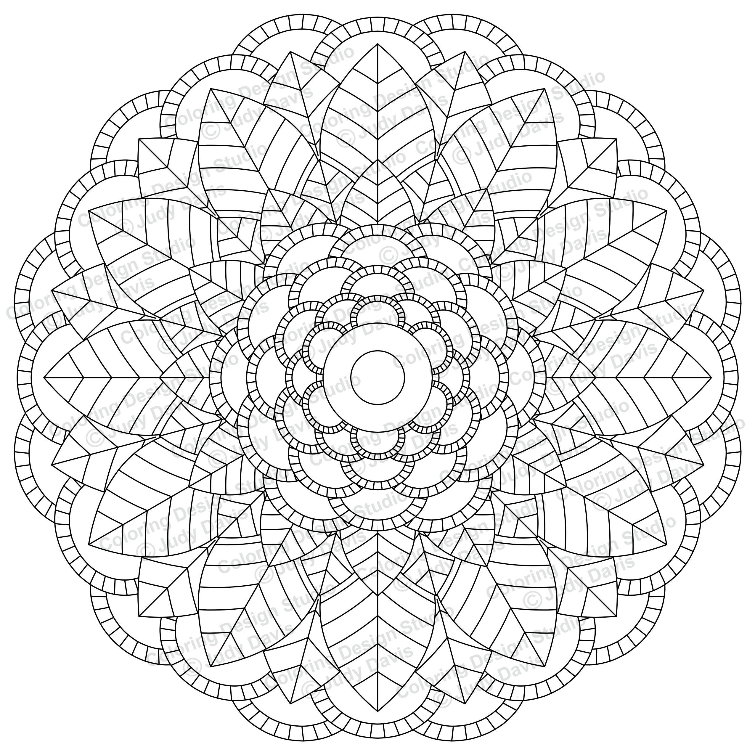 Mandala to Color Adult Coloring Page Instant Download PDF ...