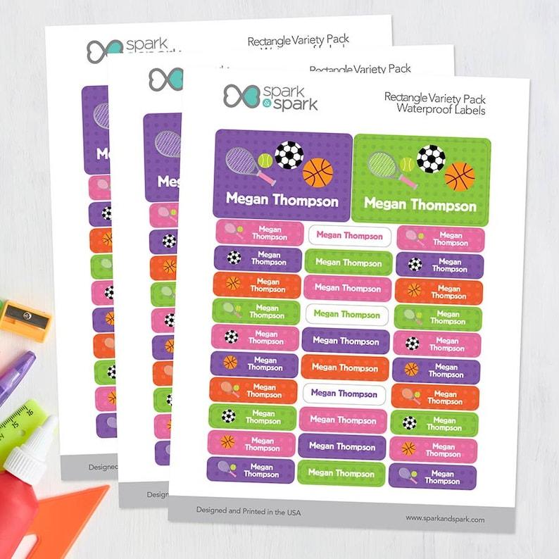 Set of 128 Linen Girl Shades Purple Labels Rectangular Pack