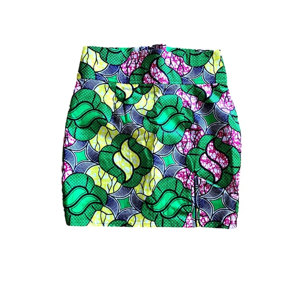 african wax print mini skirt | small