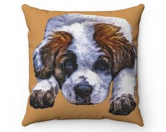 Personalized Name Saint Bernard Pillows Gifts For Saint Bernard Saint Bernard Gifts Custom Saint Bernard Pillow 12x18 Pillow