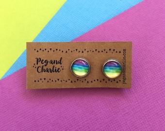 Mini Stud Earrings - Somewhere Under the Rainbow