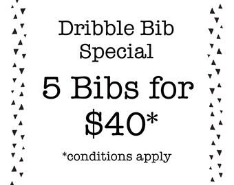 Bandana Dribble Bib Special - Pick Any 5