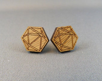 Stud Earrings Bamboo - Polyhedra