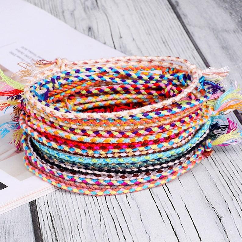 2 pcs Lucky Tibetan String Bracelets & Bangles for Women Men image 1